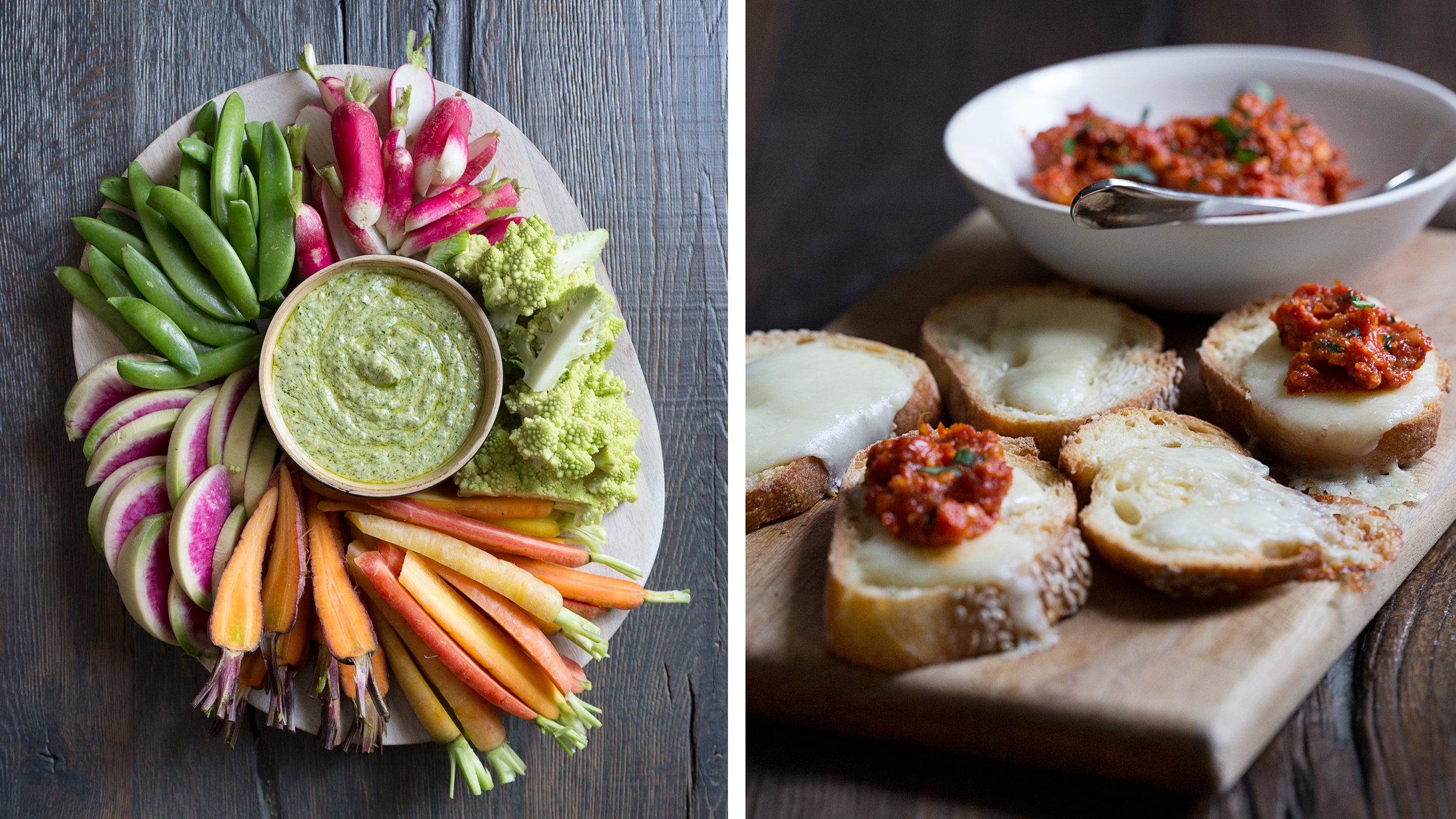 Easy Party Appetizers Crostini Crudites And Bacon