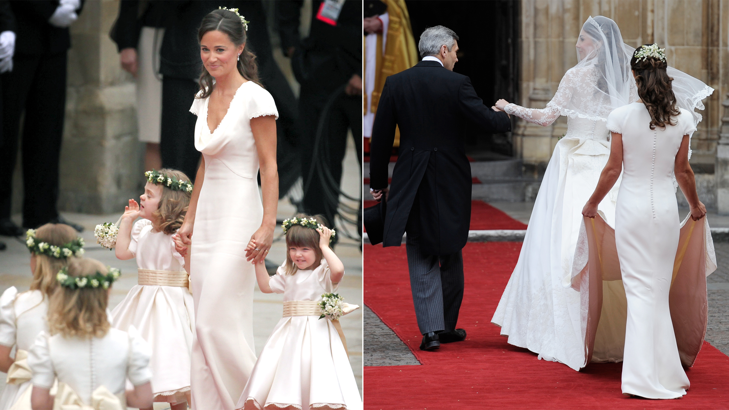 Pippa middleton royal wedding dress fitted a little too today ombrellifo Gallery