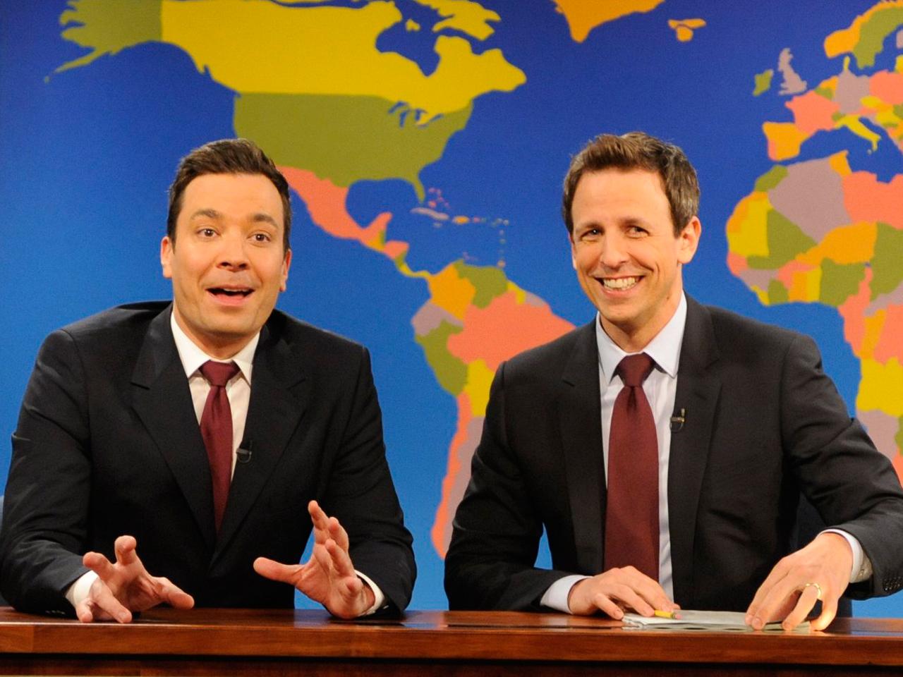 Image: Jimmy Fallon and Seth Meyers
