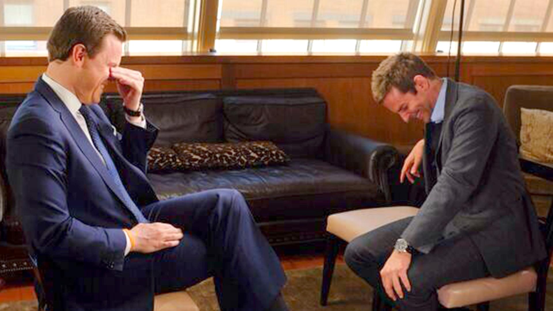 Image: Willie Geist and Bradley Cooper
