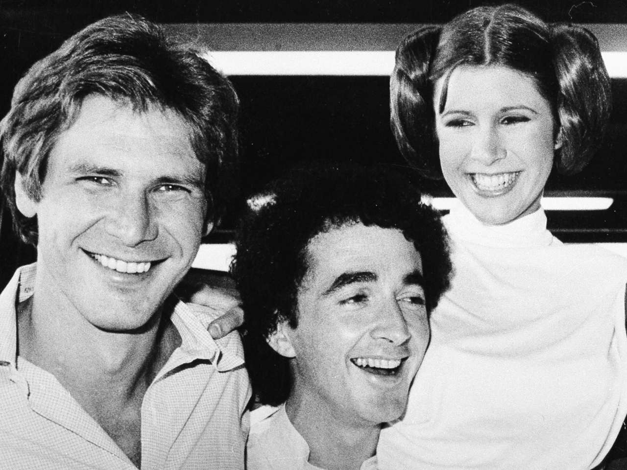 Image: Harrison Ford, Anthony Daniels, Carrie Fisher