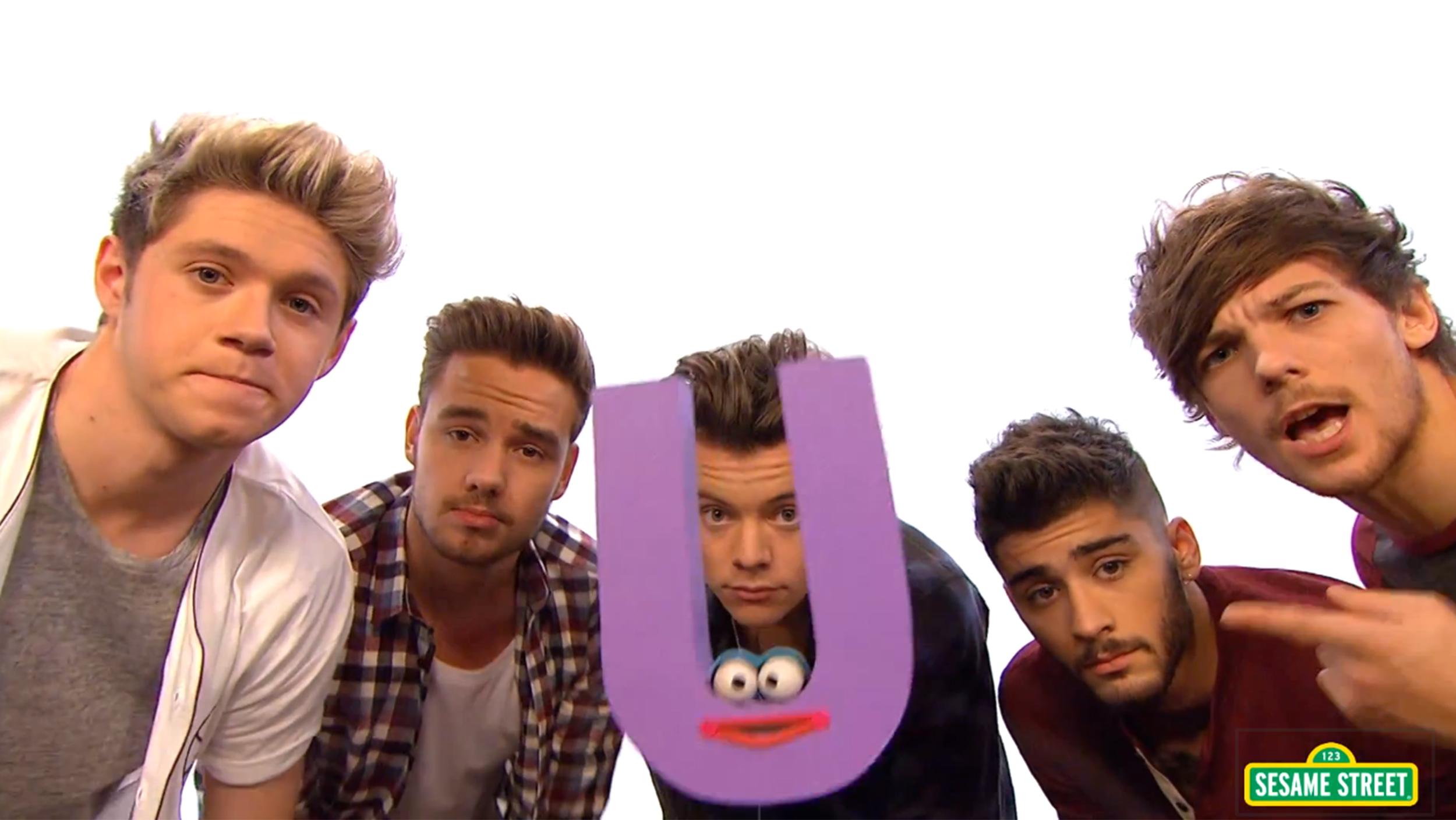 One Direction on Sesame Street.