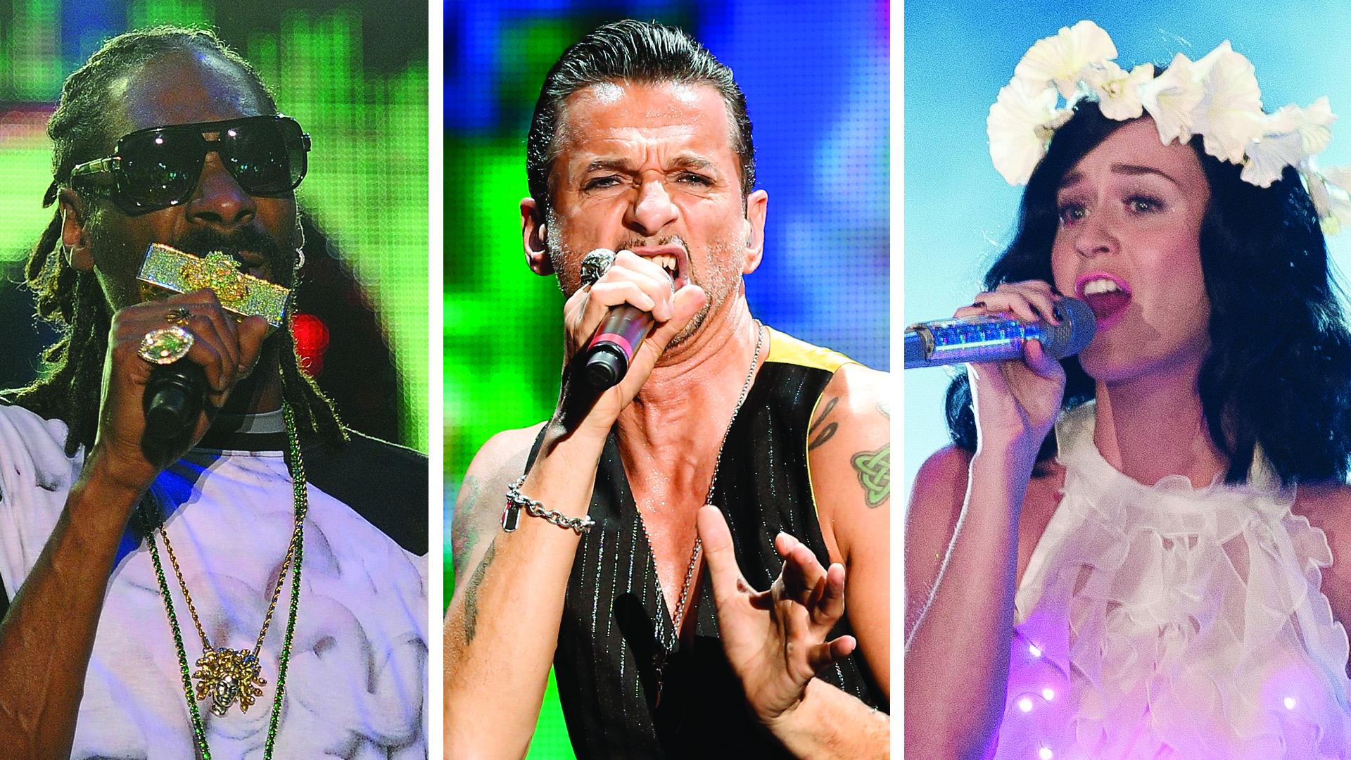 Image: Depeche Mode, Snoop Dogg, Katy Perry