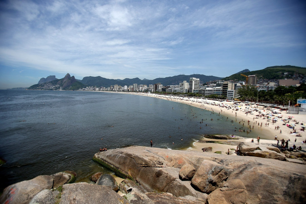 Brazil is home to beautiful beaches such as Ipanema in Rio de Janeiro.