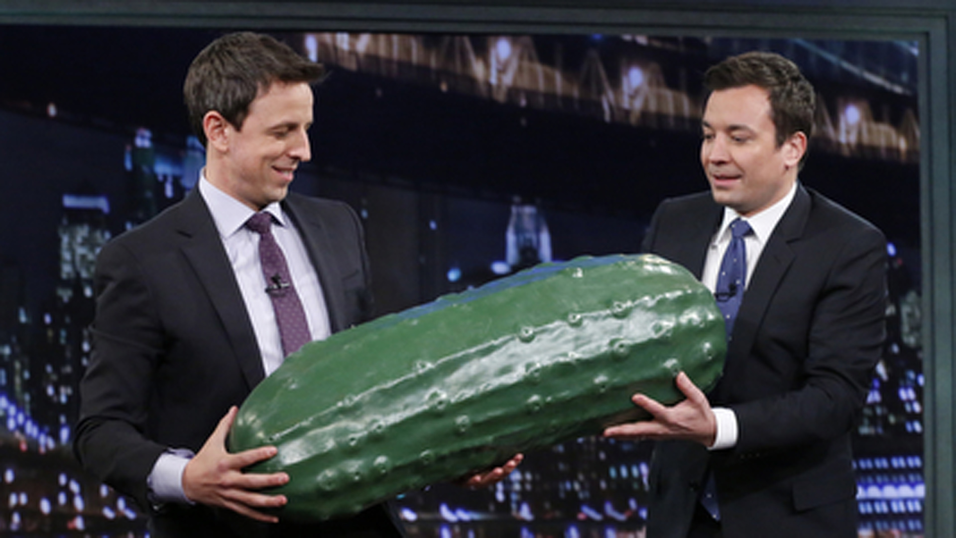 Jimmy Fallon inducted Seth Meyers into the