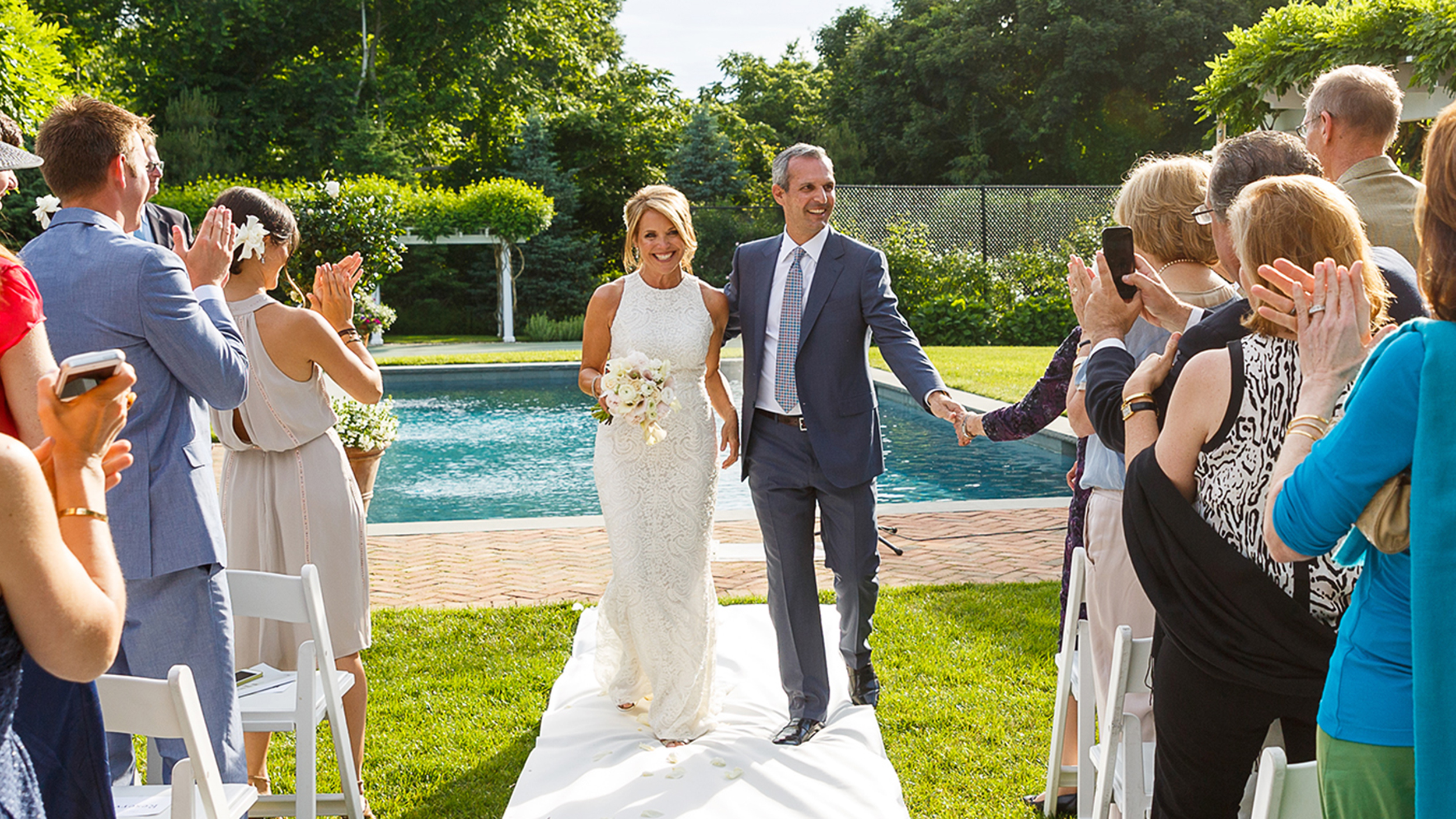 katie couric shares beautiful backyard wedding pictures with today