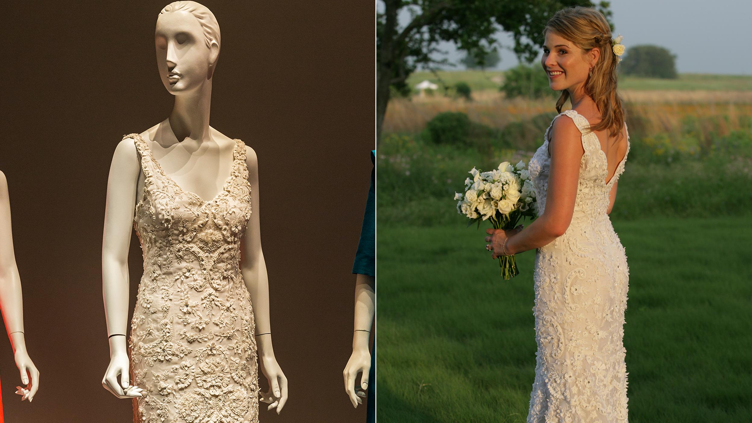 Jenna Bush Hager's wedding gown on display at Oscar de la Renta ...