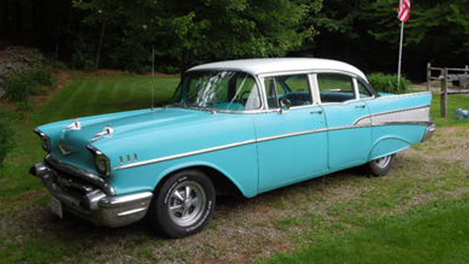Keys To Happiness Son Surprises Dad With 57 Chevy For 57th Birthday