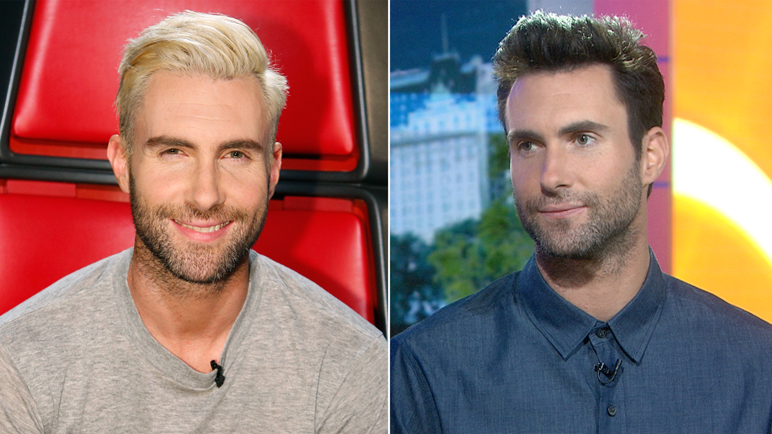 As A Blond Adam Levine Did Not Have More Fun No One
