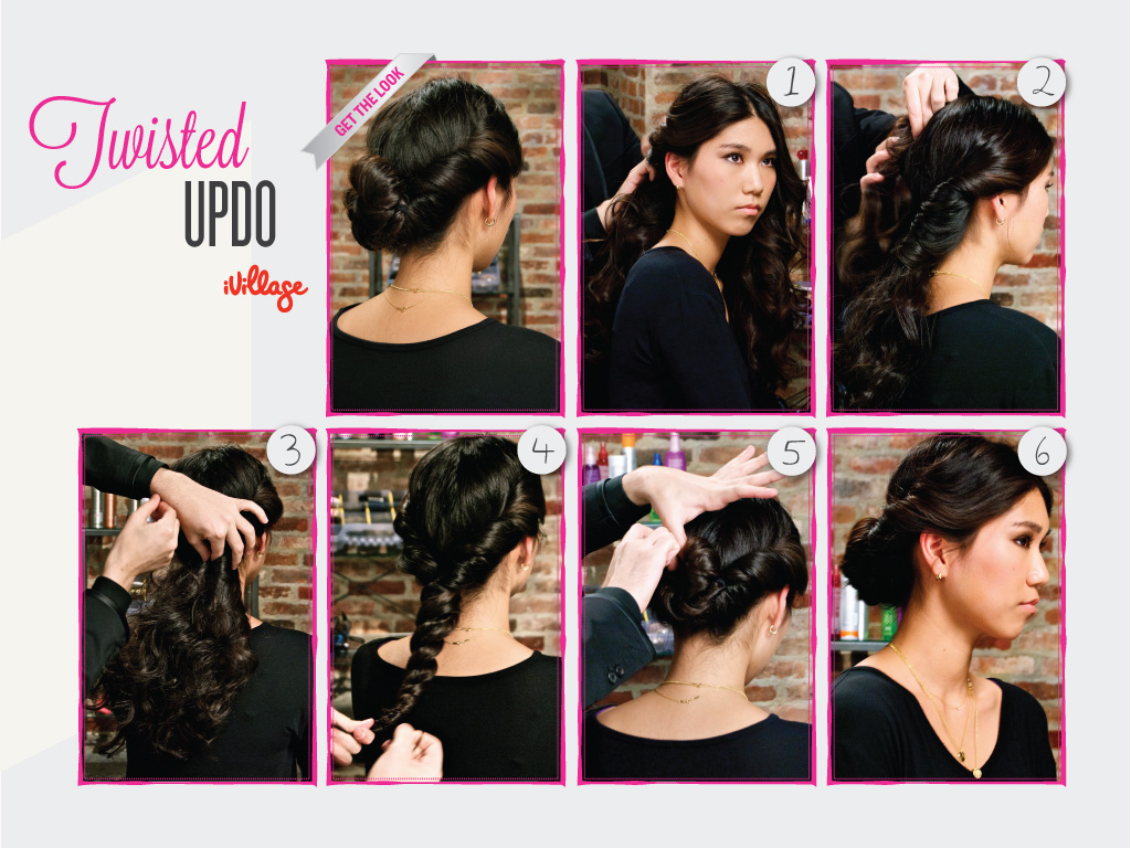 Diy Hairstyles Easy Step By Step Hair Tutorials Twisted Updo