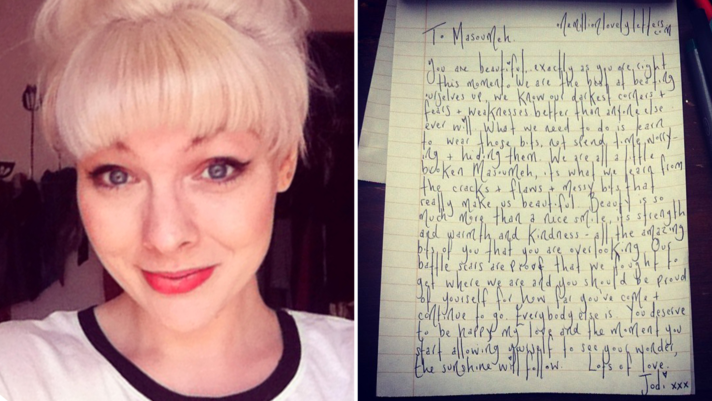 Spreading magic Woman writes 3 000 pick me up letters to strangers