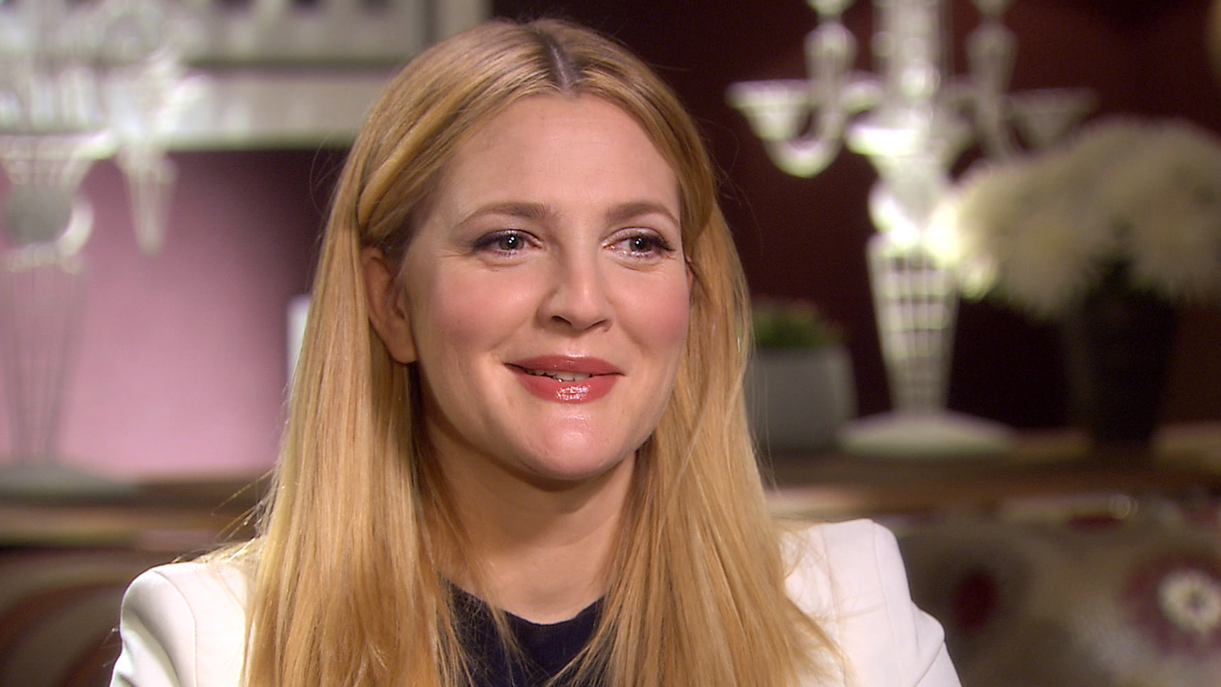 Drew Barrymore talks motherhood, acting less... and desk ...