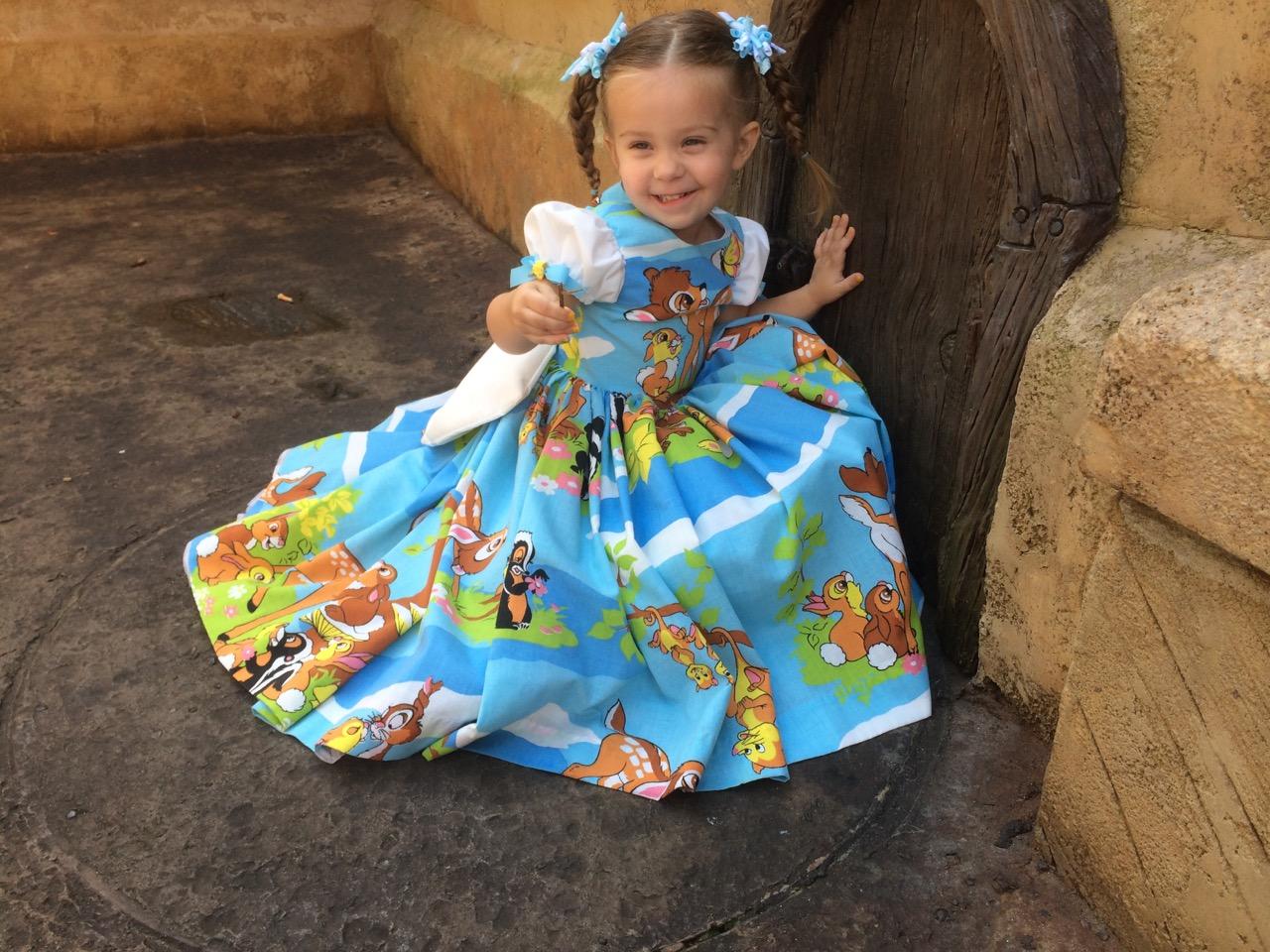 7f366264b177 Little princess  Mom s hand-made Disney costumes help shy girl blossom.  costume