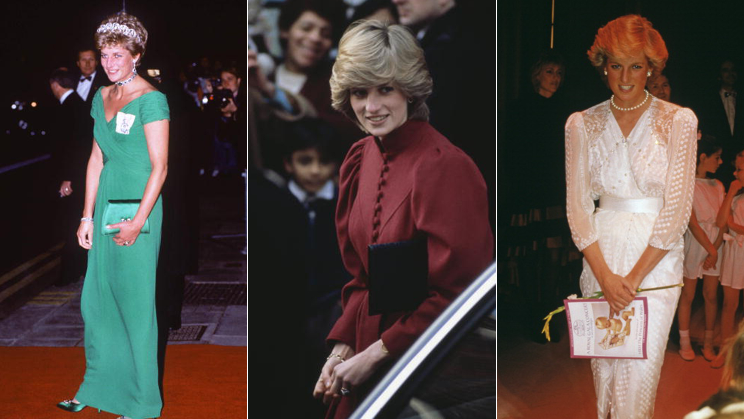 Princess Diana s gowns Duchess Kate s wedding cake up for