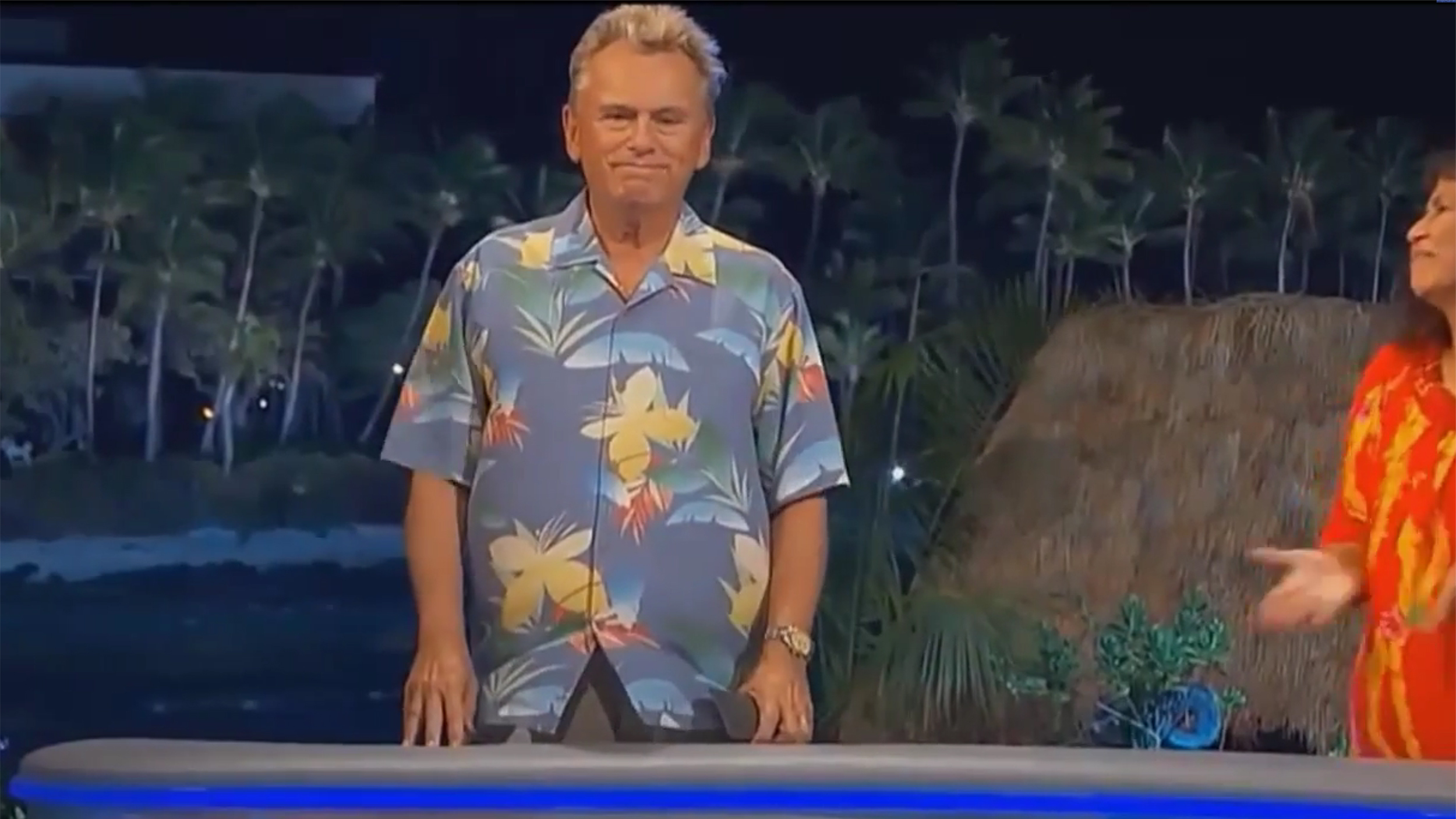 Pat Sajak Walks Off Wheel Of Fortune But He S Just