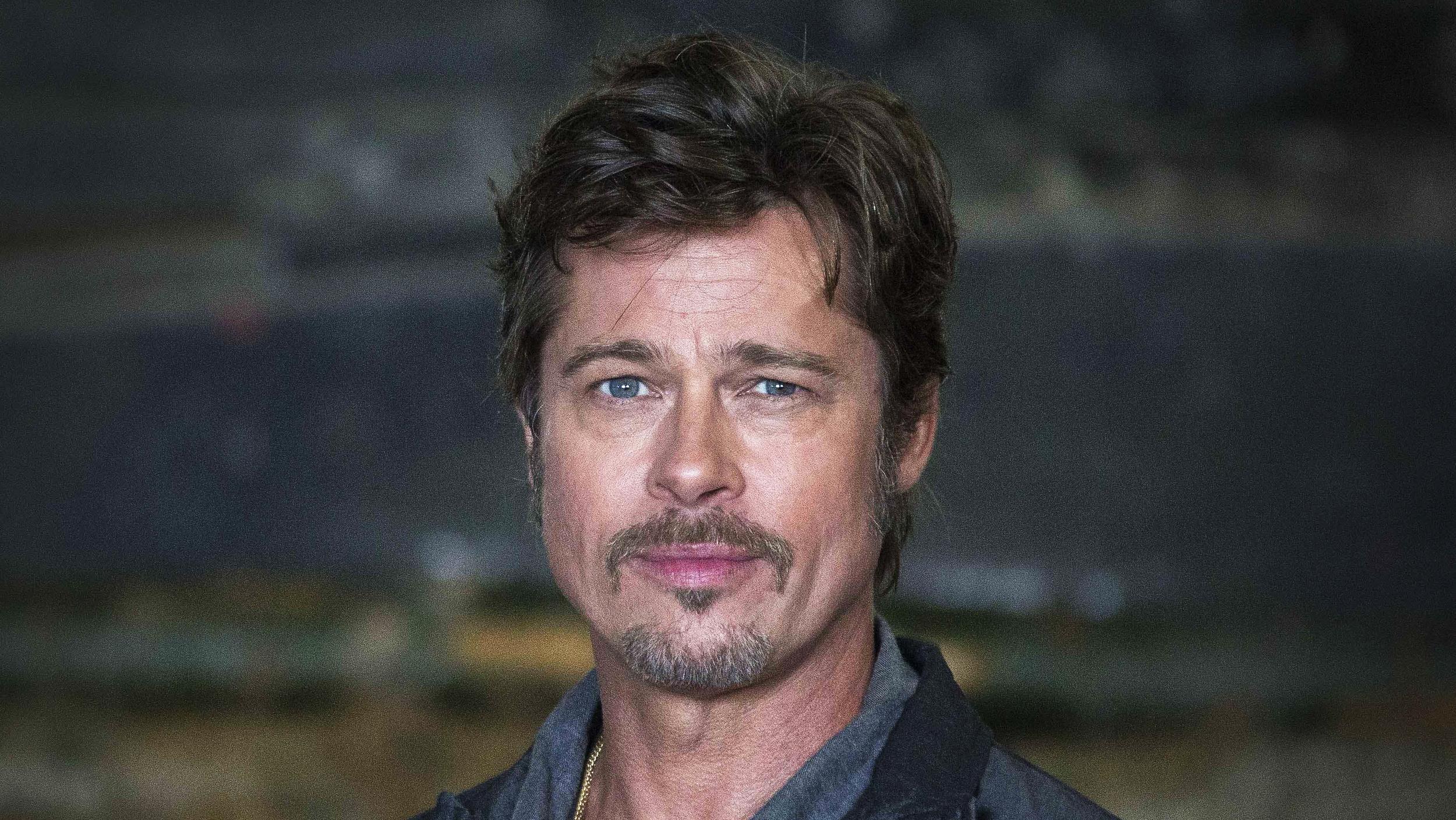 Brad Pitt got first gu...