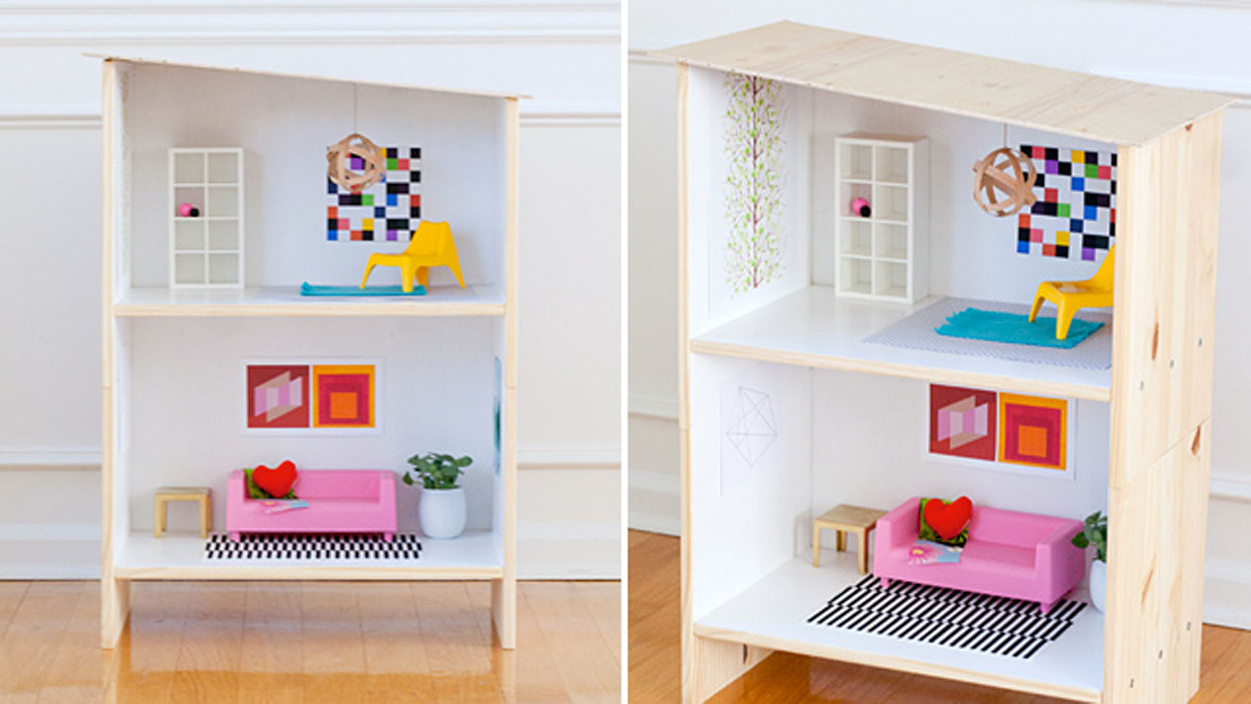 Diy holiday gifts ikea dollhouse hack - Casa delle bambole ikea ...
