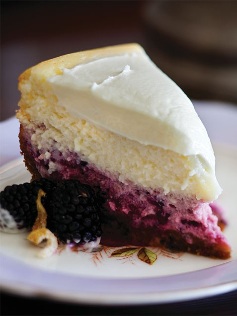 Lemon Blackberry Cheesecake Today Com