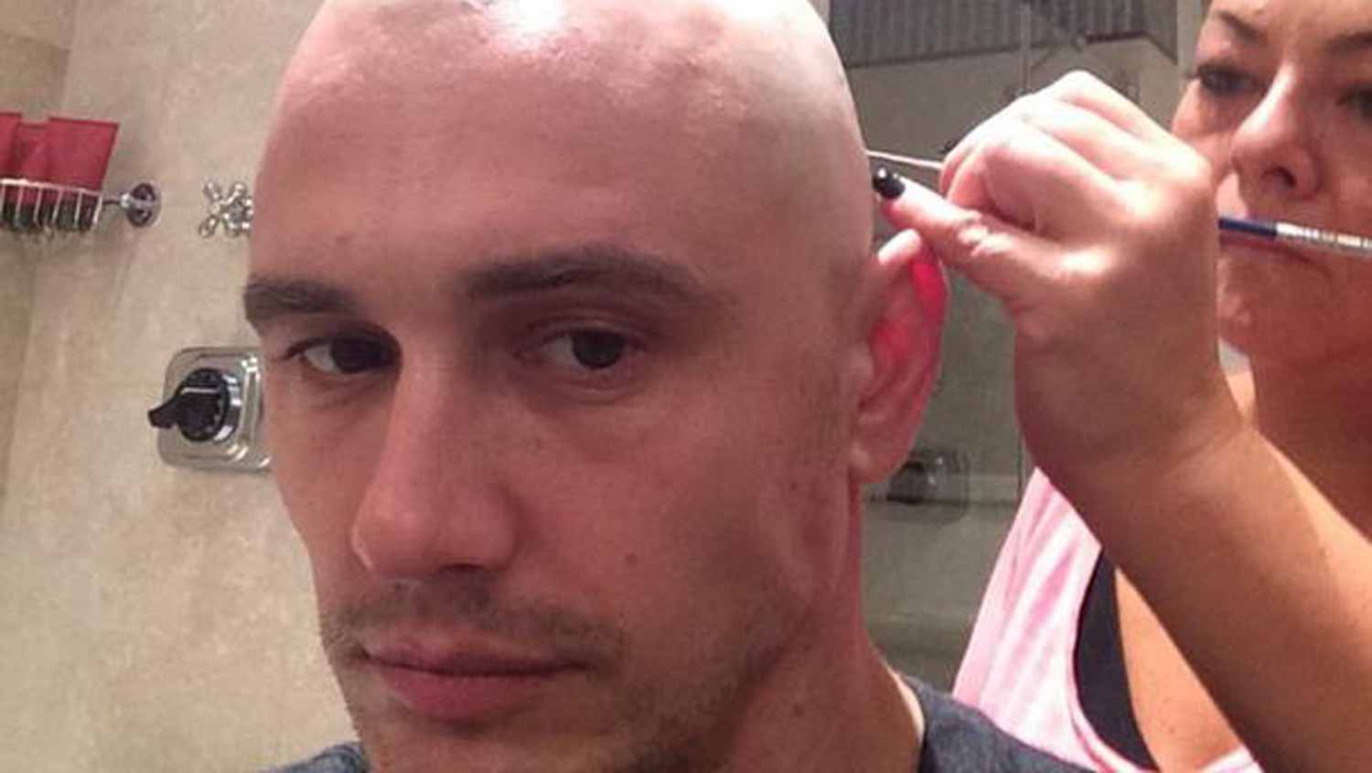 Excellent James Franco Shaves Head Shares Bald Selfies On Instagram Today Com Short Hairstyles Gunalazisus