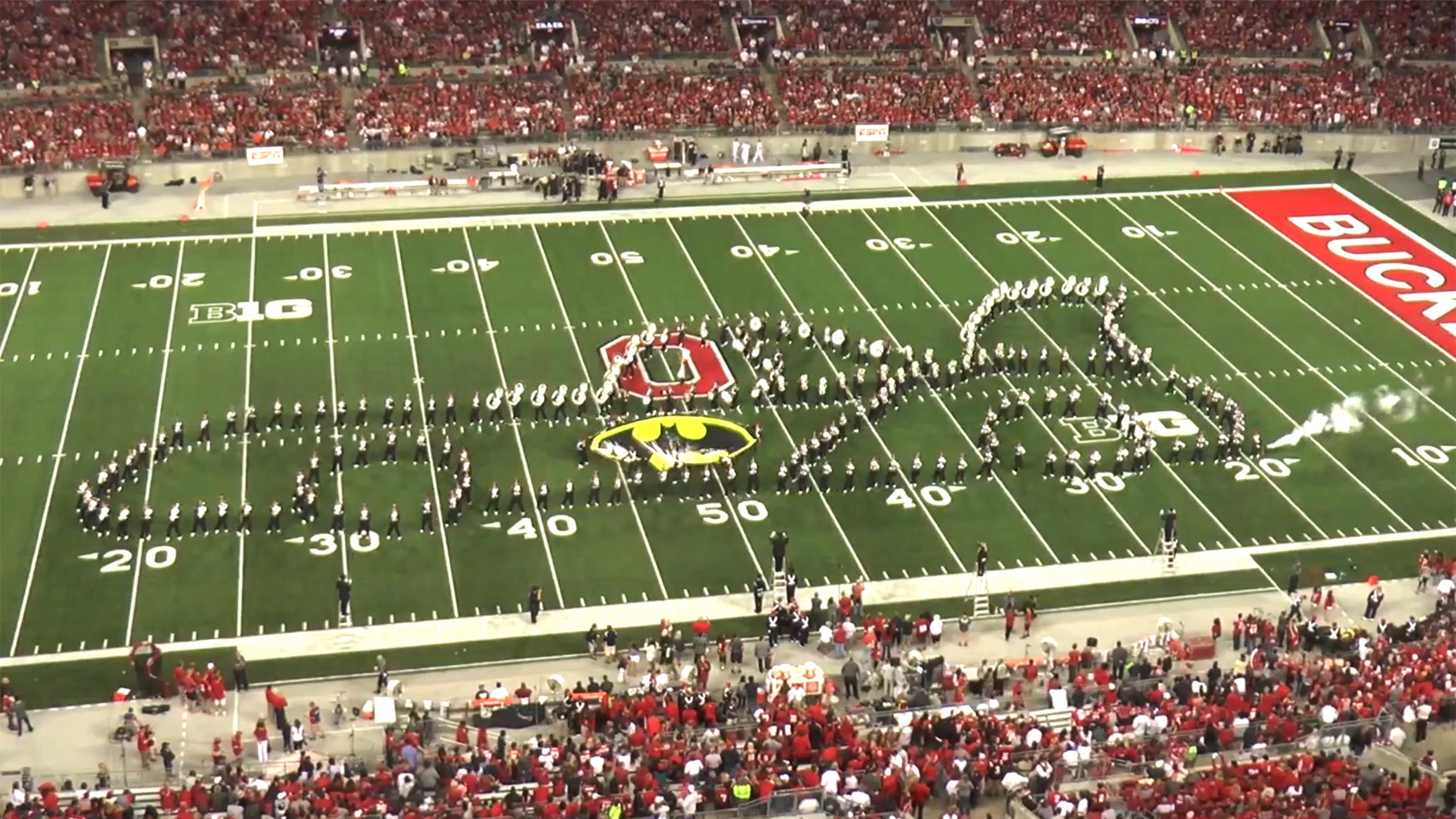 OSU marching band salutes classic TV shows at football