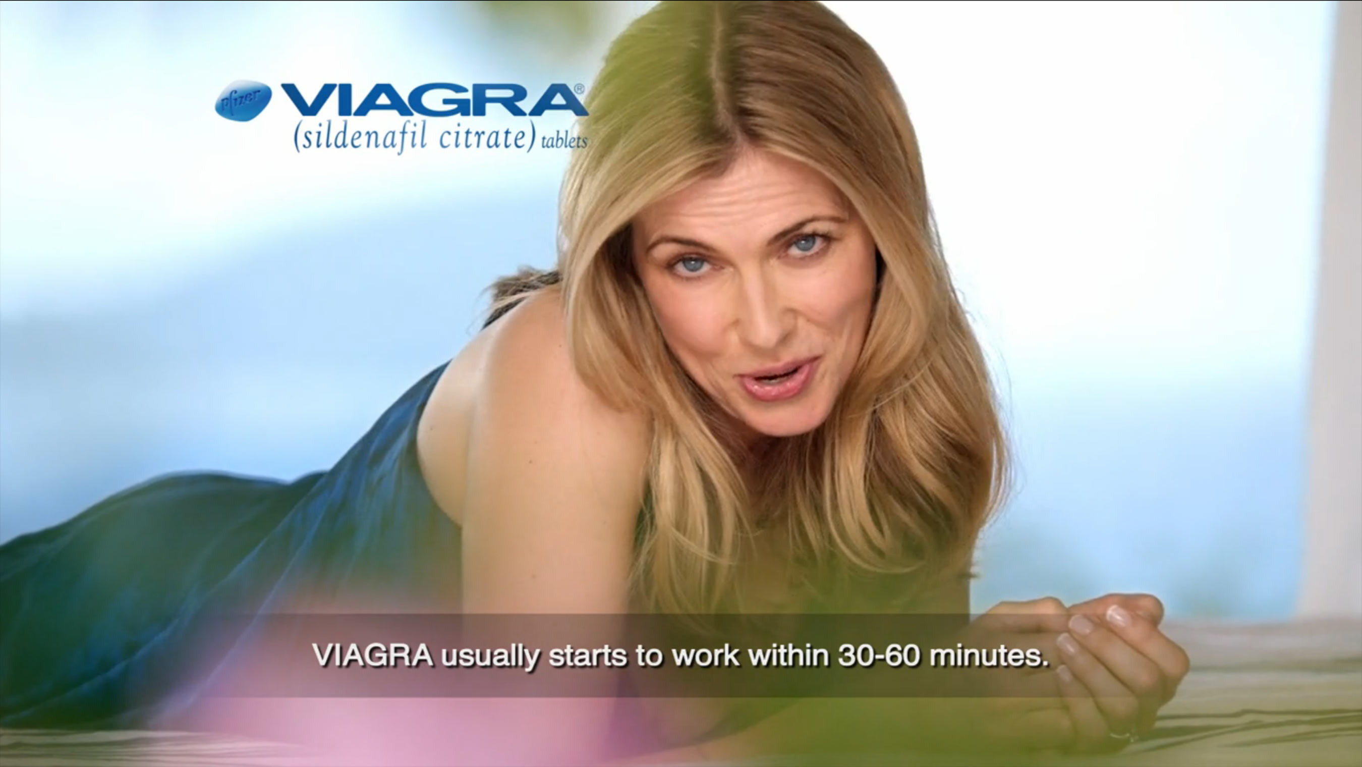 Women in viagra commercials