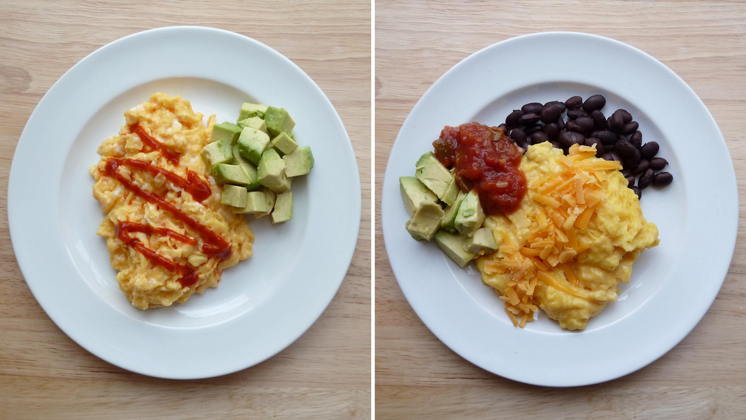Delicious breakfast: scrambled eggs recipe 87