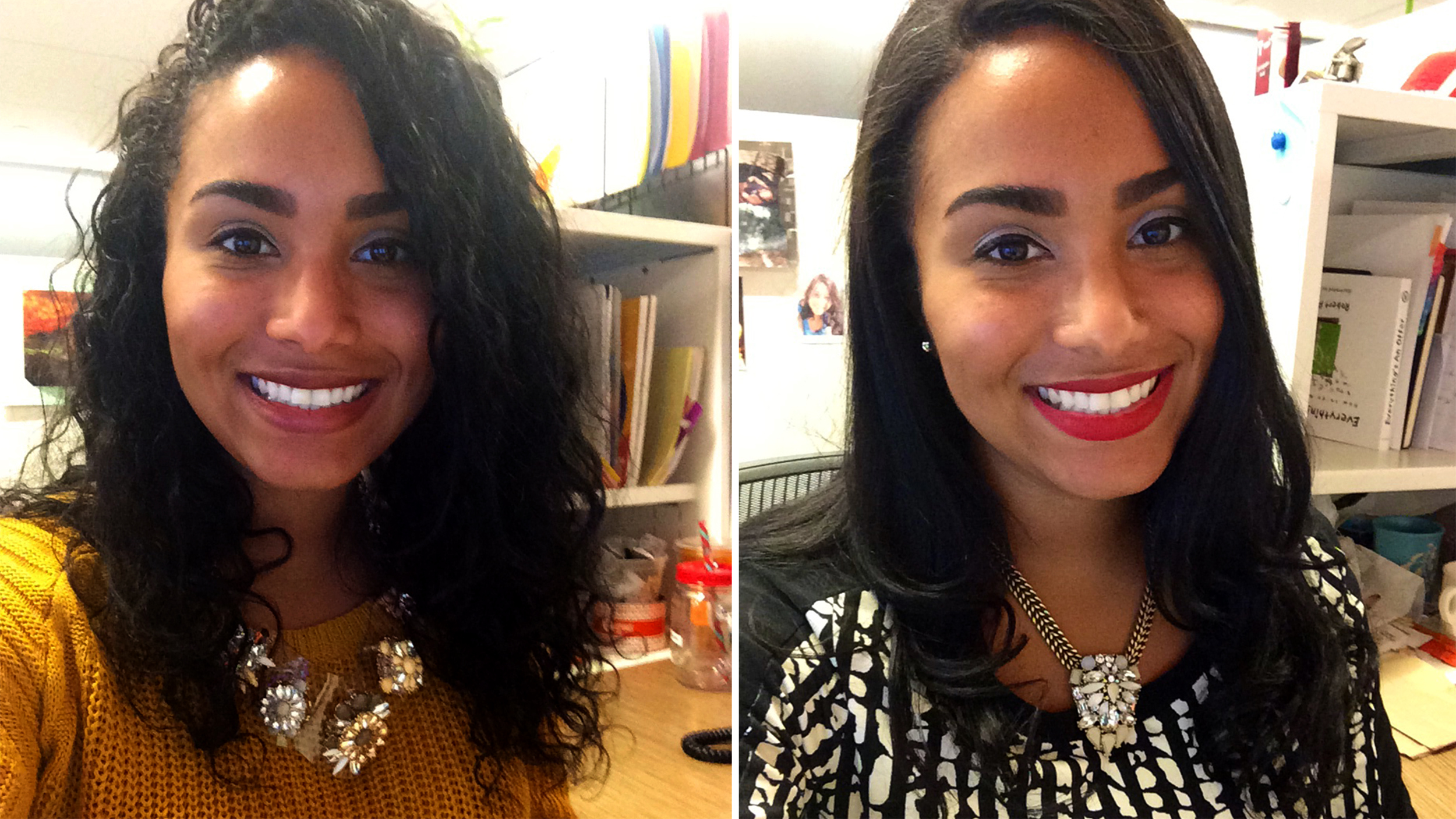 CurlPower Women Switch From Curly To Straight Hairstyles To Test