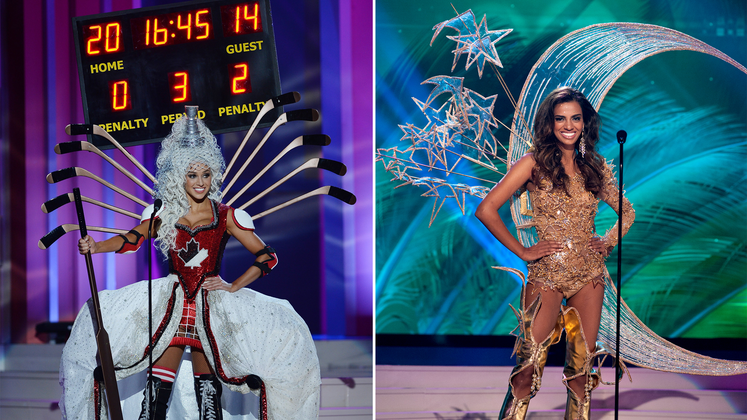 Miss universe pageant 2015 costumes for preliminary show border on