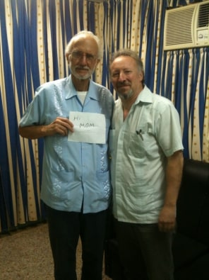 Image: Peter Kornbluh , right, stands with Alan Gross, U.S. contractor jailed in Cuba
