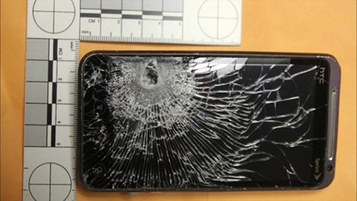 Cell phone stops bullet - Video on NBCNews.com