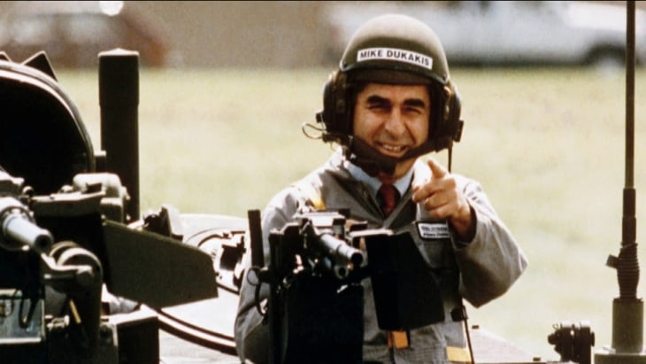 Image result for dukakis on tank