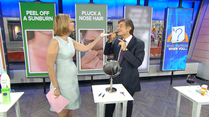 Stop Plucking Your Nose Hairs Dr Oz Weighs In On Common