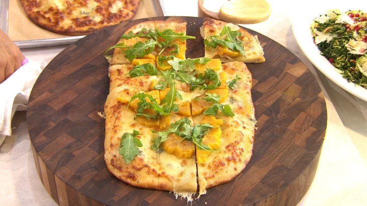 Make Giada's acorn squash and gorgonzola pizza - Video on TODAY.com