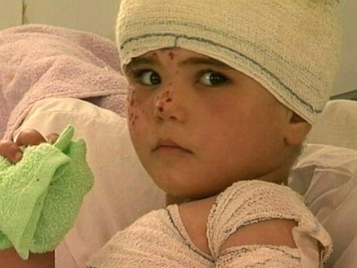Syrian kids struggle in refugee camp