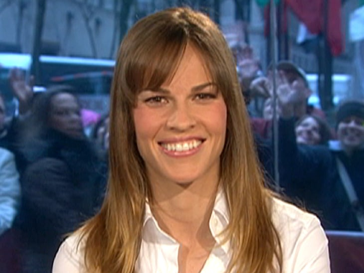 Swank on  The Re...Hilary Swank Today