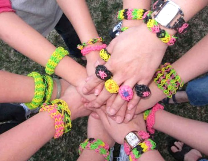 The New Silly Bandz Rainbow Loom Bracelets A Hit With