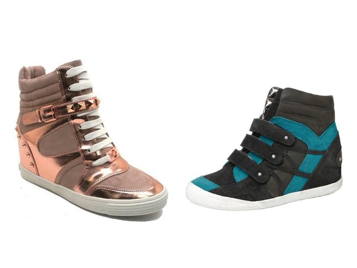 highheel sneakers wedge their way onto kids feet � but