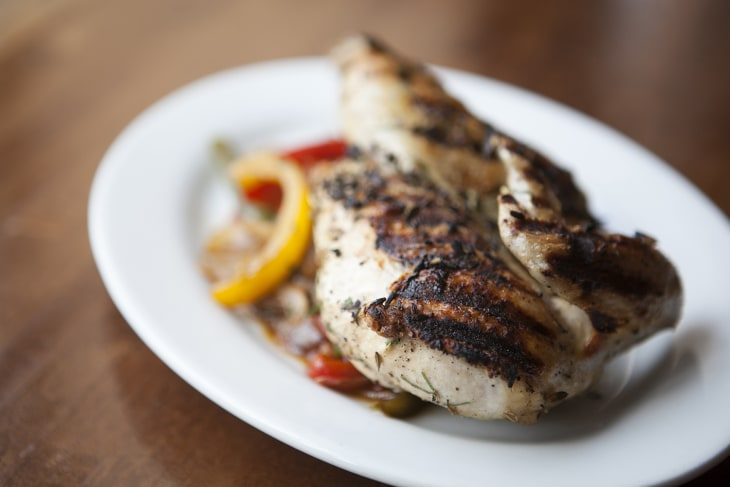 TODAY Show: Chef Glenn Harris demonstrates how to cook up a delicious brick-pressed grilled chicken with peppers and onions on June 25, 2014.