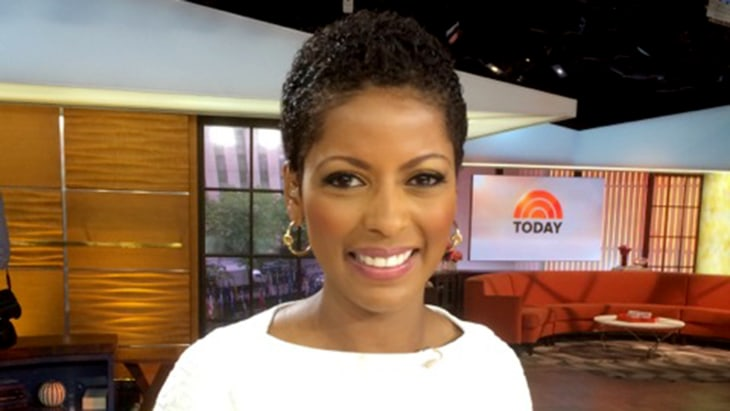 Tamron Hall wears her natural hair for the first time on
