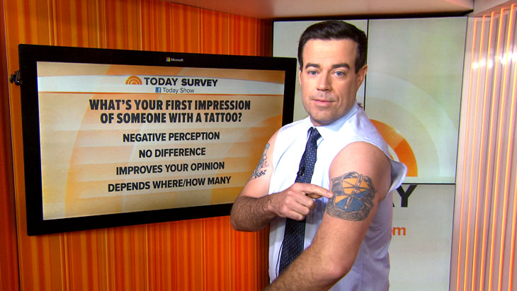 Crab Claw Carson Daly Shares The Tales Behind His Tats