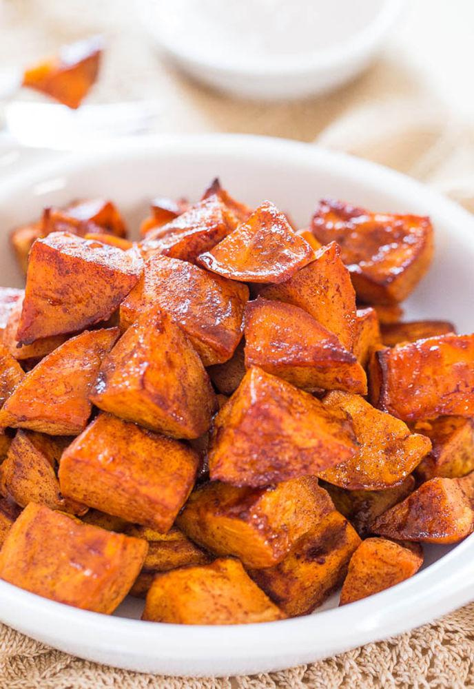 sweet potatoes herb roasted sweet potatoes cinnamon roasted sweet