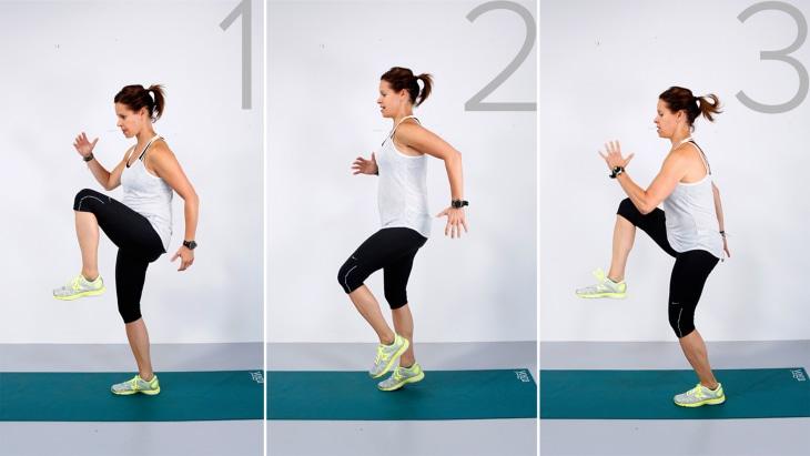 Jenna Wolfe demonstrates high knees