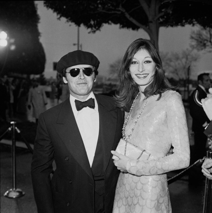 Jack Nicholson and Angelica Huston at the 1975 Oscars.