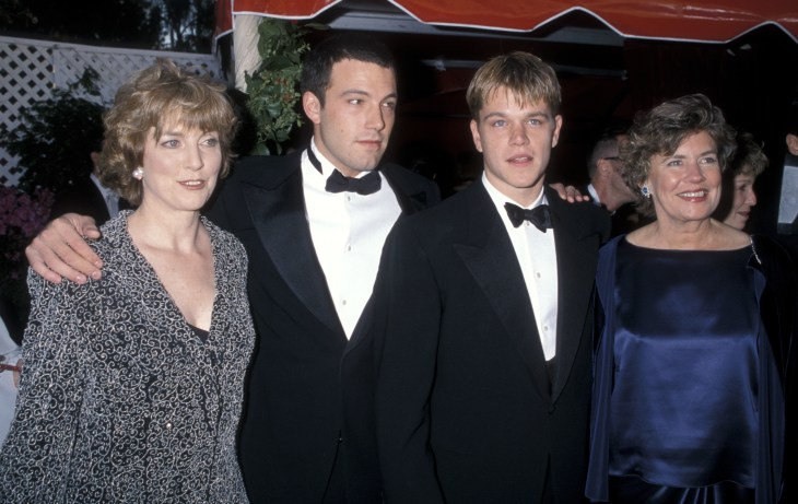 Oscar nominees Ben Affleck and Matt Damon took their mothers as their dates to the 1998 Oscars.