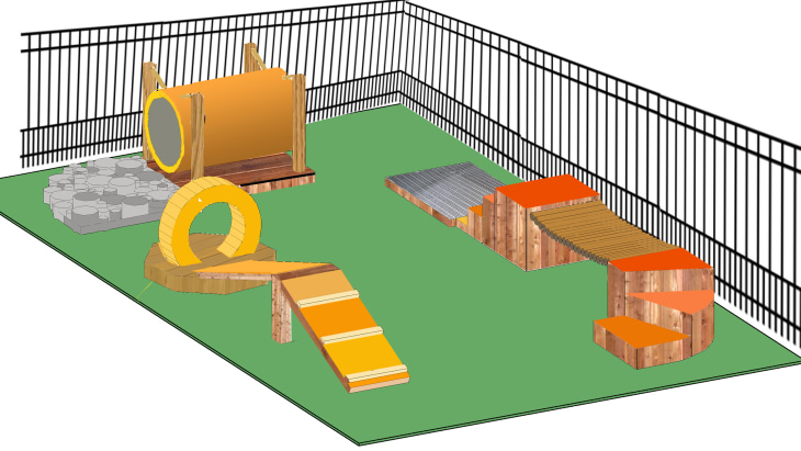 Dog Play Area In Backyard :  Brothers share how to create a dog park in your backyard  TODAYcom