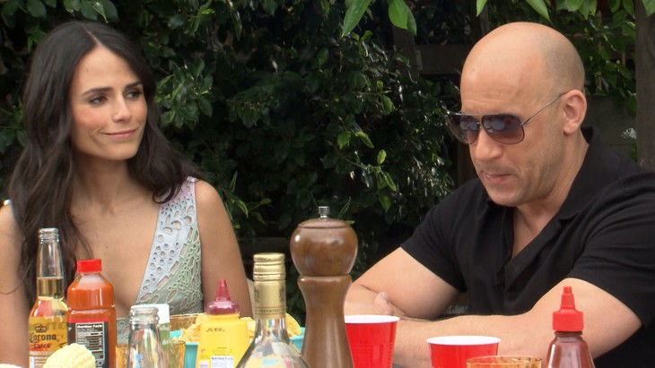 Image: Jordana Brewster and Vin Diesel.