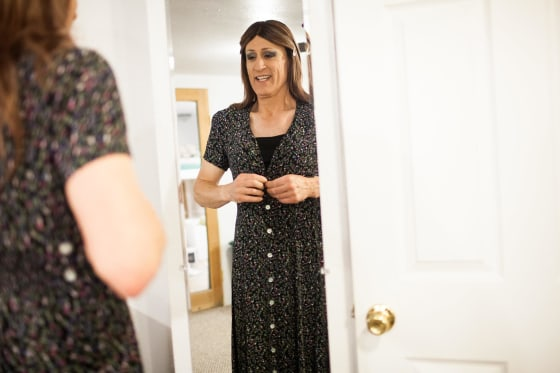 Image: Karen Scot prepares for her first day teaching as a transgendered woman