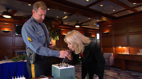 This woman was surprised when she blew a Breathalyzer that was above the legal limit.