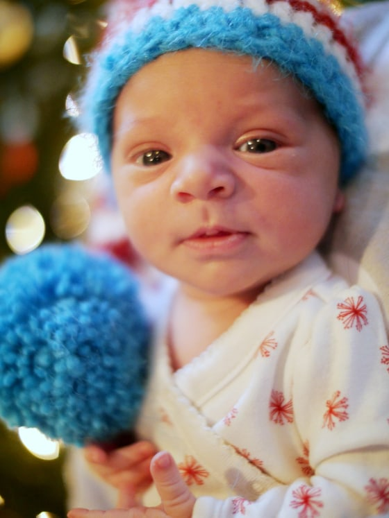 "Baby Marlowe was born six days before her due date on Christmas Eve, weighing 6 pounds, 14 ounces. The couple gave her that name because of its ""uniqueness and beauty."""