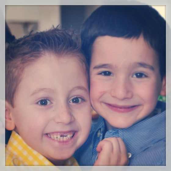 Best friends Jonah Pournazarian, left, and Dylan Siegel love to play Monopoly, basketball and football together. They also love to laugh.